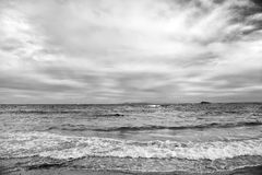 St Maarten Island Beach Caraïbisch strand Caraïbische overzees Blauwe wateroverzees Mooi Caraïbisch strand Caraïbisch Eiland royalty-vrije stock foto