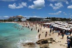 St Maarten Maho Beach Image stock