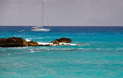 St. Maarten Sailboat Royalty Free Stock Image