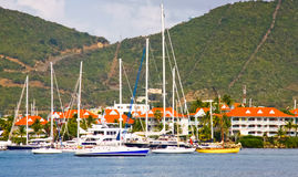 St. Maarten Simpson Bay Lagoon Sailboats Royalty Free Stock Photos