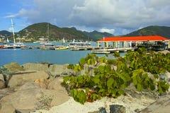 St Maarten som är karibisk Arkivbild