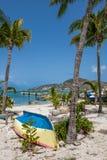 St Maarten Tropical Scene Fotografie Stock