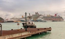 St. Maarten Water Taxi's Stock Image