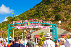 St. Maarten Welcome Sign Royalty-vrije Stock Foto's