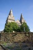 St Machar ` s Kathedraal dichtbij Seaton-park in het Oude deel van Aberdeen van de stad Royalty-vrije Stock Fotografie
