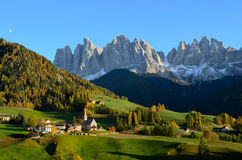 St. Magdalena in the Dolomites royalty free stock image