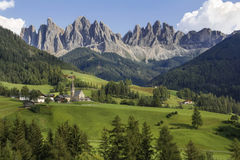St. Magdalena (Santa Maddalena) in beautiful Italy. St. Magdalena (Santa Maddalena) on a great summer day in Tyrol, north Italy with mountains (Dolomite)in the Royalty Free Stock Photo