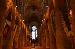 Ancient Saint Magnus cathedral in Kirkwall, Orkney archipelago, Scotland stock photo