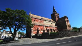 St Magnus Cathedral found in the town of Kirkwall, Scotland stock footage