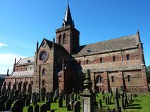 St. Magnus Cathedral in Kirkwall Royalty-vrije Stock Foto