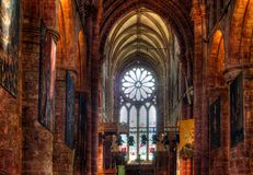 St Magnus Cathedral, Kirkwall, Orkney Royalty-vrije Stock Foto's