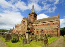St. Magnus Cathedral, Kirkwall, Orkney. St. Magnus Cathedral, in Kirkwall, the main town of Orkney, a group of islands off the north coast of mainland Scotland Royalty Free Stock Photography