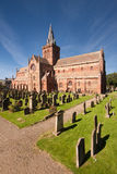 St Magnus Cathedral, Kirkwall, Orkney, Scotland. Is a Norse Romanesque style red sandstone structure founded in 1137 by the Viking Earl Rognvald and is the most Royalty Free Stock Photo