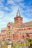St. Magnus Cathedral. And old Graveyard, Kirkwall, Orkney Islands, Scotland Royalty Free Stock Photos