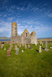 St Magnus Church, Egilsay, Orkney, Scotland. St Magnus Church on the Island of Egilsay, Orkney, Scotland is a partially ruined 12th century Norse structure with Royalty Free Stock Photos