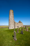 St Magnus Church, Egilsay, Orkney, Scotland. St Magnus Church on the Island of Egilsay, Orkney, Scotland is a partially ruined 12th century Norse structure with Stock Image