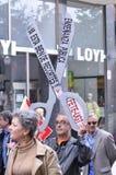 1st Maj demonstration i Gijon, Spanien Royaltyfri Foto