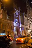 St. Malachy`s The Actors` Catholic Church at Night Stock Photos