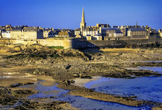 St-malo. Fotified town in brittany france Royalty Free Stock Photos