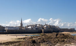 St. Malo. St Malo city fortifications view Royalty Free Stock Photos