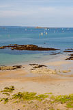 St Malo Beach. In northern France Royalty Free Stock Image