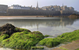 St Malo from the beach Stock Image