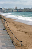 St Malo Beach and town Stock Images