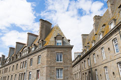 St. Malo in Brittany, France. The city walls and houses of St. Malo in Brittany, France Stock Images