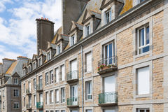 St. Malo in Brittany, France. The city walls and houses of St. Malo in Brittany, France Stock Photo