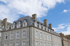 St. Malo in Brittany, France. The city walls and houses of St. Malo in Brittany, France Royalty Free Stock Image