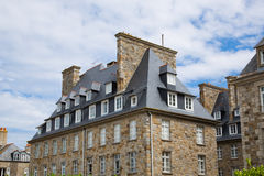 St. Malo in Brittany, France. The city walls and houses of St. Malo in Brittany, France Royalty Free Stock Photo