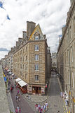 St Malo, Brittany, France. SAINT-MALO, FRANCE - AUGUST 06: People walking on medieval city wall around the old town of Saint-Malo, France on August 06, 2013 Royalty Free Stock Image
