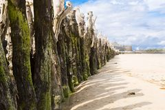 St Malo, Brittany, France. View of the town walls St Malo, Brittany, French Stock Image