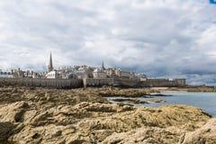St Malo, Brittany, Francja Obrazy Royalty Free