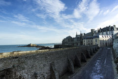 St Malo. Coast of Brittany, France Royalty Free Stock Images