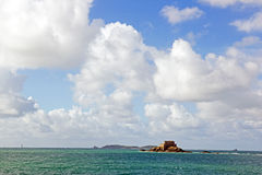 St Malo, fort of the big Bé Brittany, France Royalty Free Stock Image