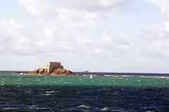 St Malo, fort of the big Bé Brittany France Royalty Free Stock Images
