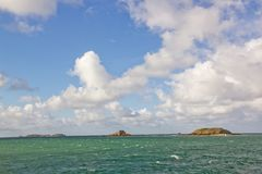 St Malo, fort of the big Bé Brittany France Stock Photography