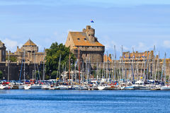 St. Malo Fortifications and Harbor Royalty Free Stock Photography