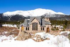 St Malo kościół w zimie fotografia royalty free