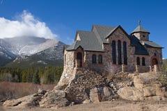 St Malo, kyrka på vaggar, Allenspark, Colorado Royaltyfria Foton