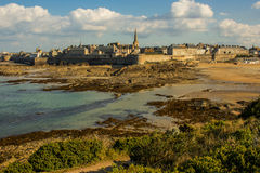 St. Malo. Magical ancient fortified town of St. Malo Stock Image