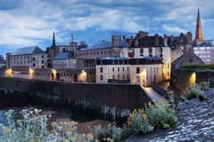 St-Malo panorama. At evening. St-Malo, Brittany, France Stock Image