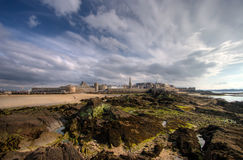 St Malo from the sea. The French seaside city of Saint-Malo in Brittany, France Royalty Free Stock Photography