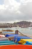 St Malo, small boats Brittany France Stock Image