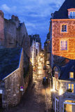 St-Malo - street in old town. St-Malo, Brittany, France Stock Photography