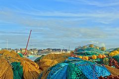 St Malo, between the threads of the fishing port (Brittany France). Royalty Free Stock Images
