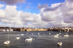 St Malo, the threat of the storm Bretagne France Stock Photos