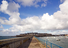 St Malo, a view of the city Brittany France Royalty Free Stock Image