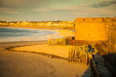 St. Malo. The walls of St. Malo, Brittany, France Stock Photo